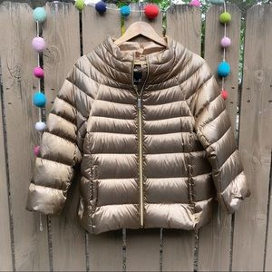 Sam Edelman Gold Puffer Coat